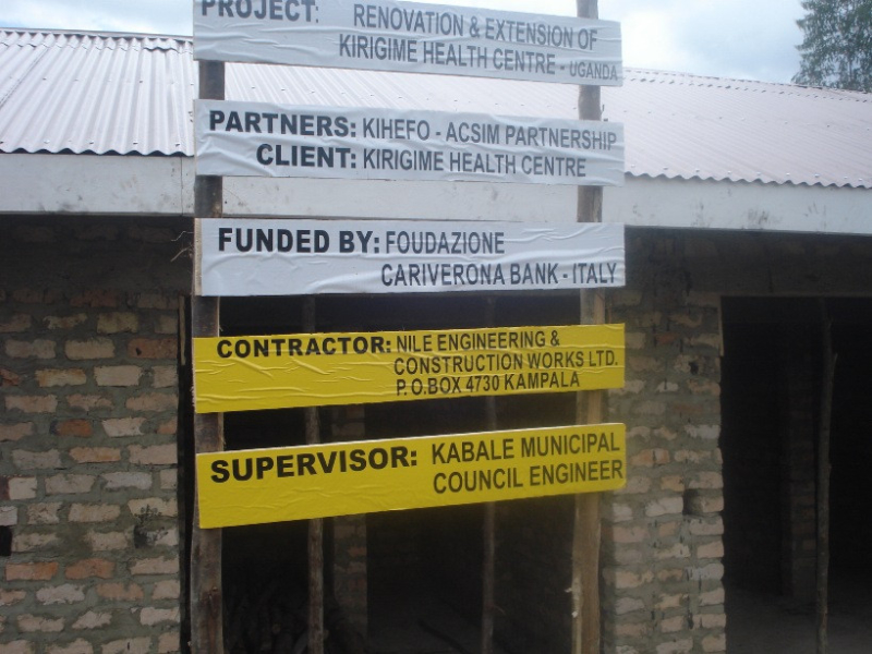 Project Sign Post at the Toilet site